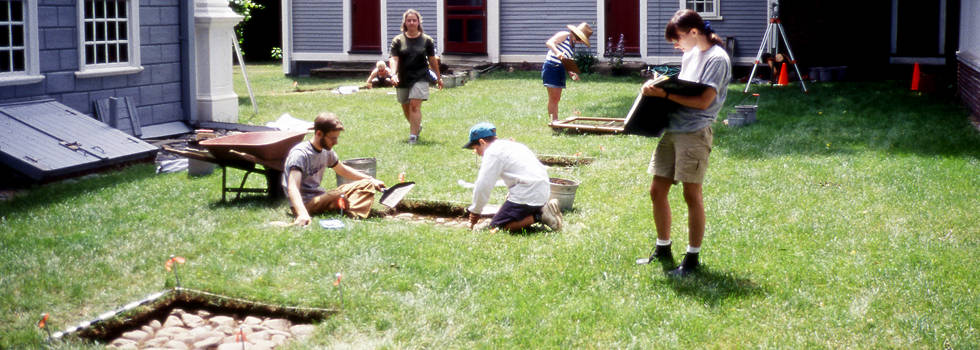 Archaeological Dig at the Royall House and Slave Quarters