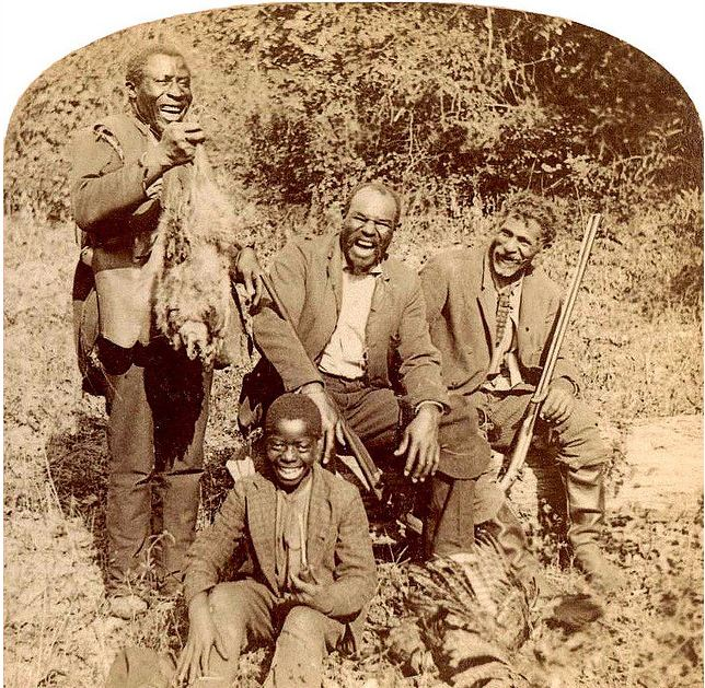Happy Hunting Party somewhere in New England 1870-1890