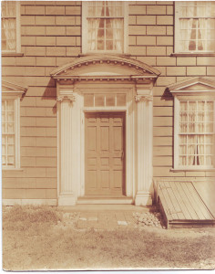 Royall House, front door, west facade